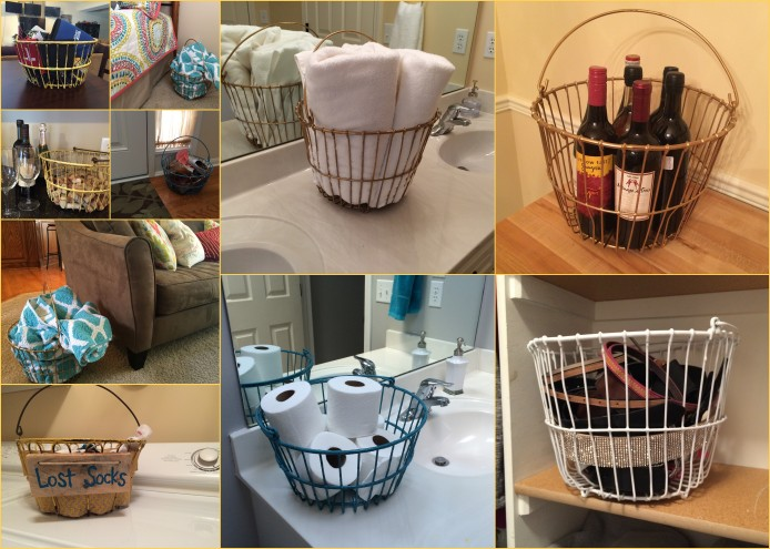 Egg Baskets in Use