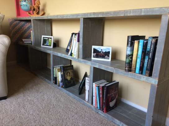 Bookshelf in my reading nook!
