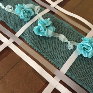 Weave ribbons for a table runner