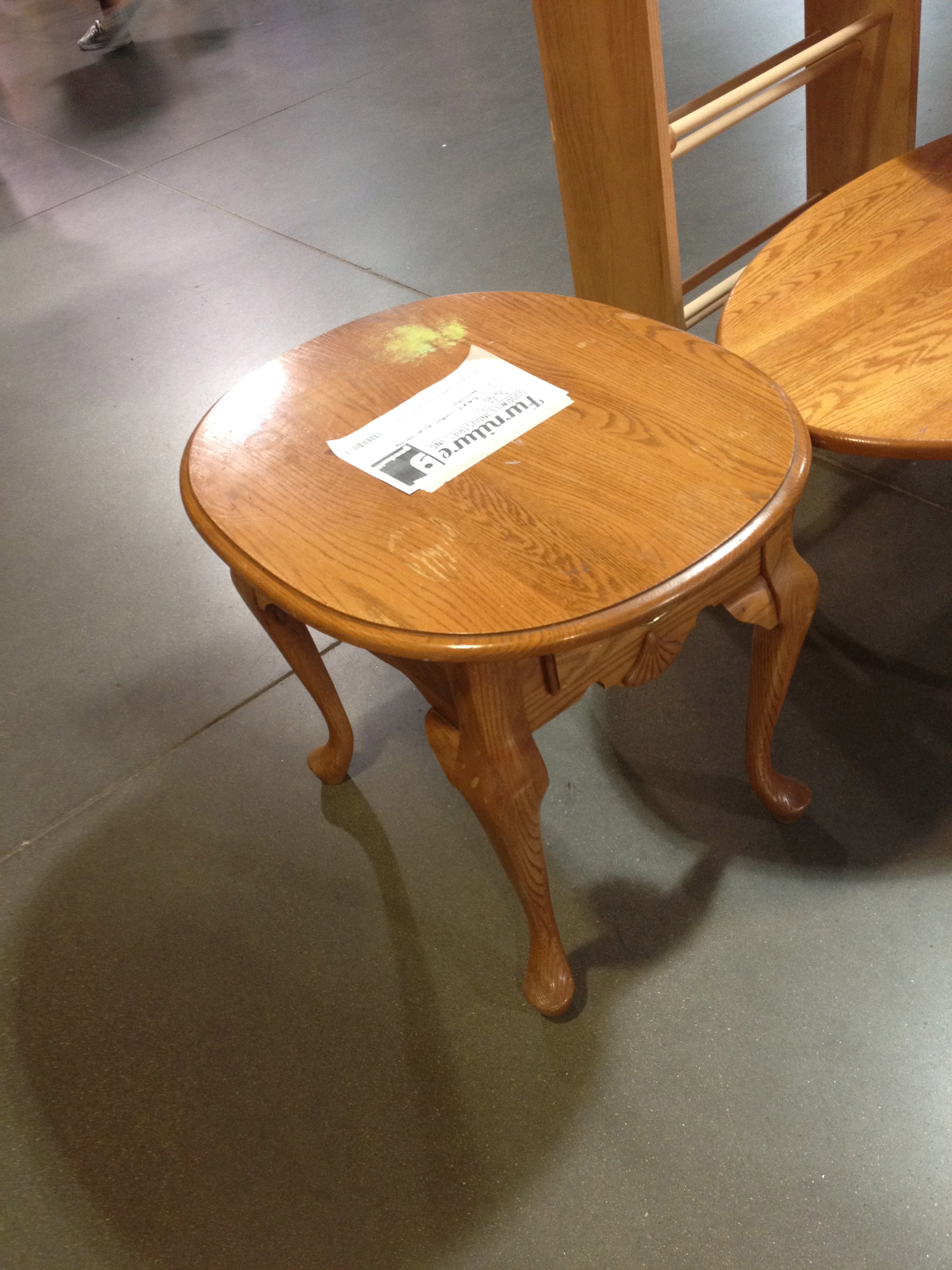 Use coasters…or have me refinish Goodwill furniture – Rae