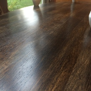 Ebony stain with poly finish