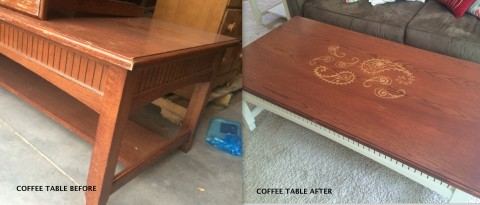 Coffee table transformation