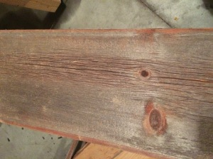 Barnwood selected for the new table top