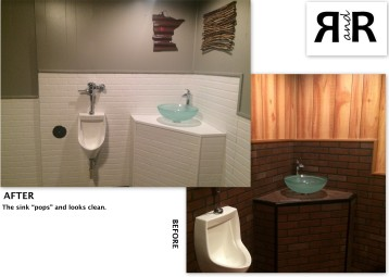 Urinal and Sink- Before and After