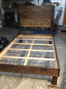 The bed before adding the pallets