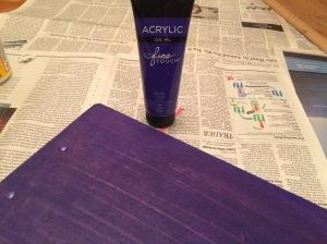Purple backside of the clipboard