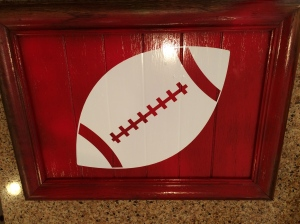Base color applied with football sticker