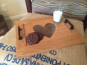 Heart serving tray
