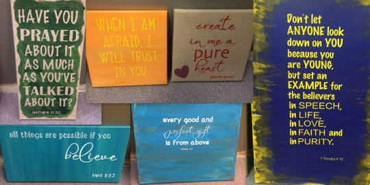 Bible verses on canvas