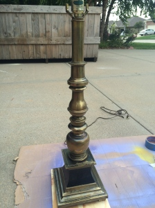 Yucky brass lamp