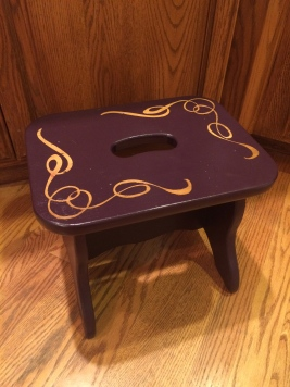 A pop of purple stepping stool
