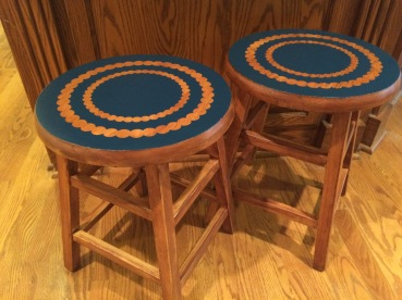 Completed barstools