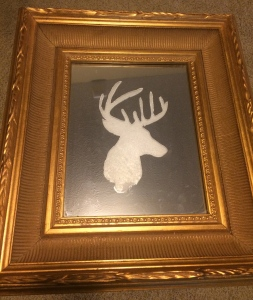 My 2nd attempt at a painted deer on a mirror.