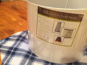 Self-adhesive lampshade