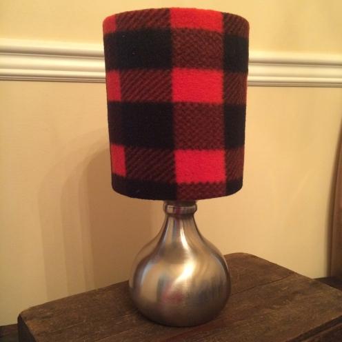 Classic red flannel mini lamp