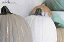Chalk Paint Pumpkins by percfectlyimperfectblog.com